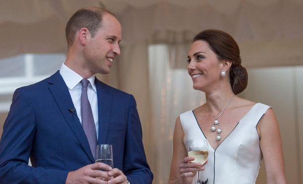 William ja Catherine ovat vierailulla Puolassa.