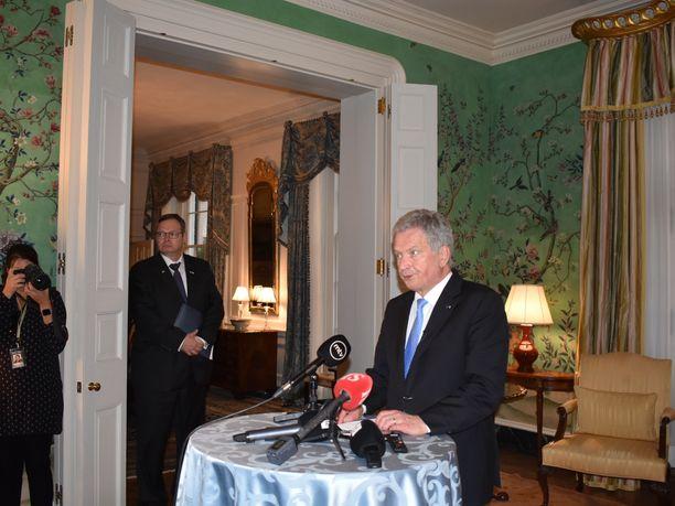 Presidentti Sauli Niinistö kertoo viihtyneensä hyvin Donald Trumpin vieraana.