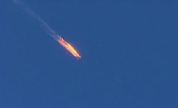 Turkki ampui tiistaiaamuna alas venäläisen lento-osaston Su-24 -koneen.