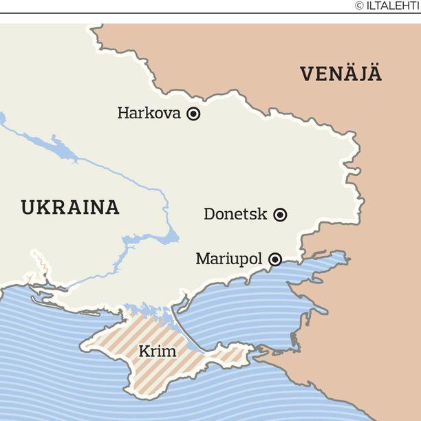 Sartana sijaitsee Itä-Ukrainassa, noin 15 kilometriä Mariupolin kaupungista itään.