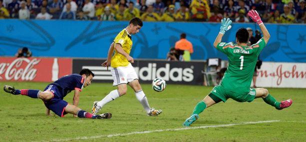 James Rodríguez tekee vakuuttavaa jälkeä MM-viheriöillä - myös tilastojen valossa.