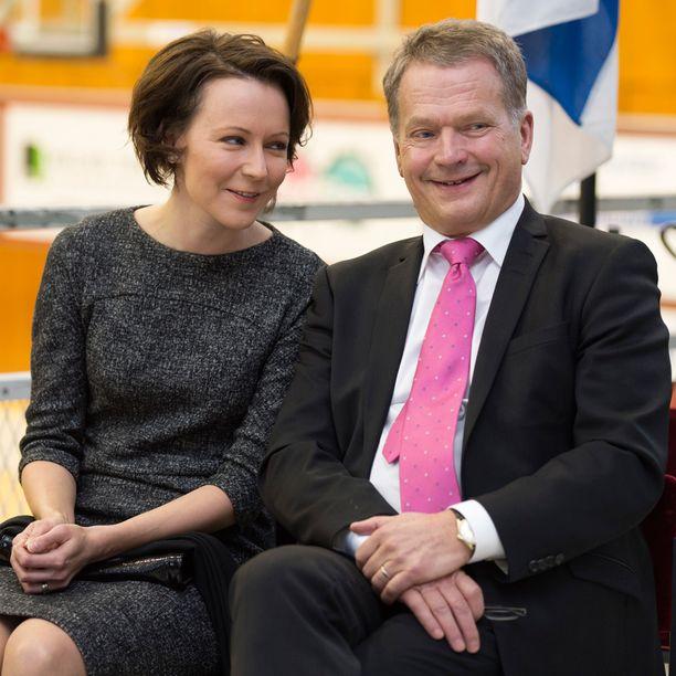 Juhlavieraisiin kuului myös Suomen presidenttipari Sauli Niinistö ja Jenni Haukio. Arkistokuva.
