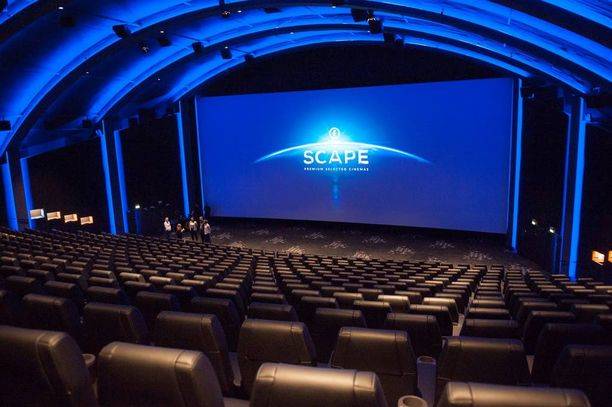Scape-salissa luotetaan Dolby Atmos -äänentoistoteknologiaan ja 4K-laserprojektoriin.