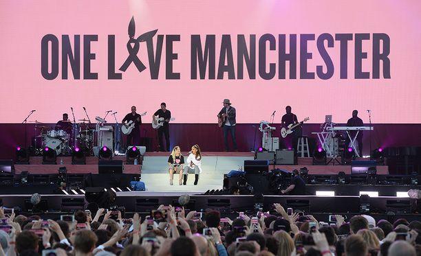 Manchesterin muistokonsertti järjestettiin sunnuntaina.