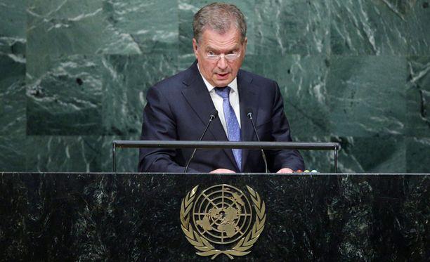 Presidentti Sauli Niinistö osallistuu YK:n yleiskokoukseen New Yorkissa.