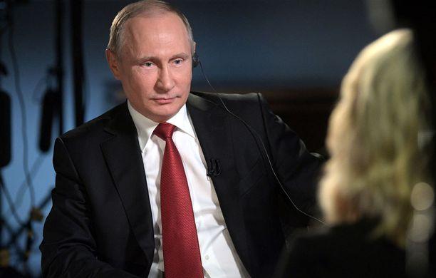 Putinin haastattelu Megyn Kellyn kanssa nähtiin sunnuntaina illalla.