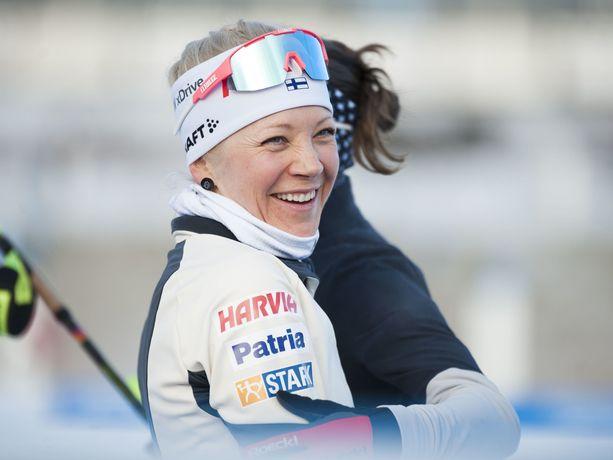 Kaisa Mäkäräinen polkaisi sunnuntaina lähes 100 kilometrin pyörälenkin.