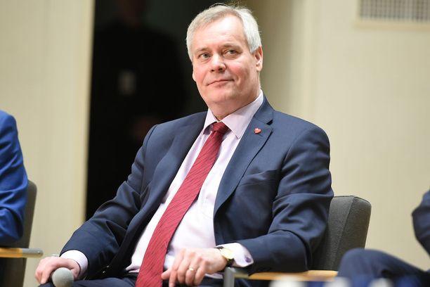 SDP:n Antti Rinne.