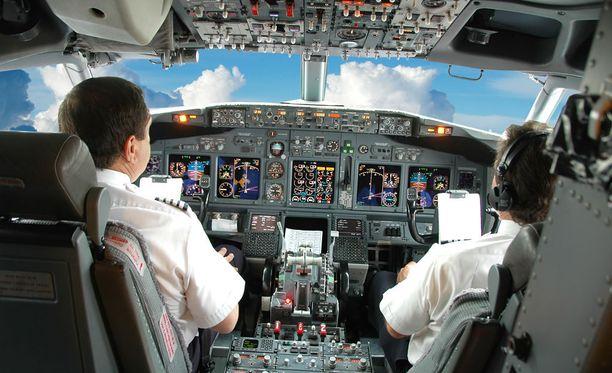 Lentäjän ammatti on yksi stressaavimmista.
