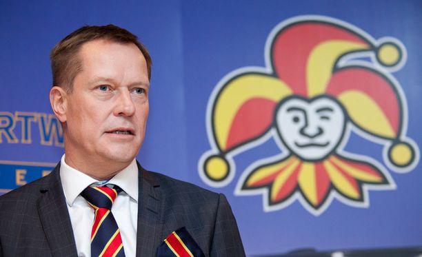 Jukka Kohosen mukaan Veikkaus on Jokerien pääyhteistyökumppani.