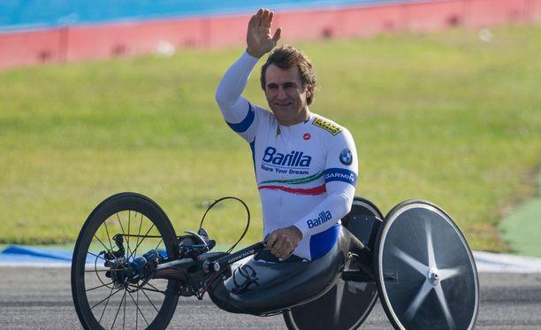 Alex Zanardi on voittanut käsipyöräilyssä peräti kolme henkilökohtaista paralympiakultaa.