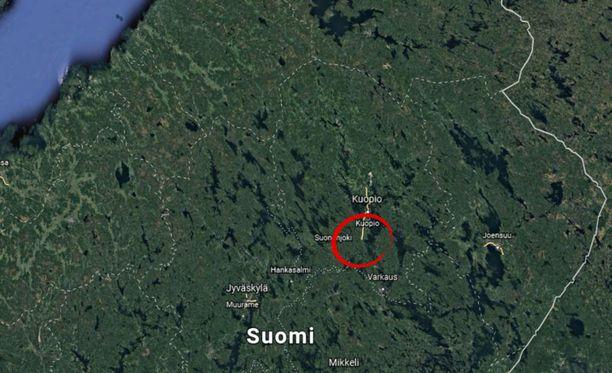 Onnettomuus tapahtui noin 20 kilometriä Kuopiosta etelään.