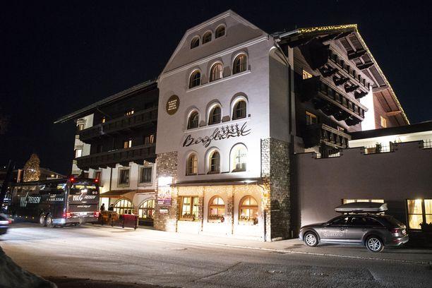 Hotelli Bergland Seefeldissä oli yksi dopingratsioiden keskuksista.
