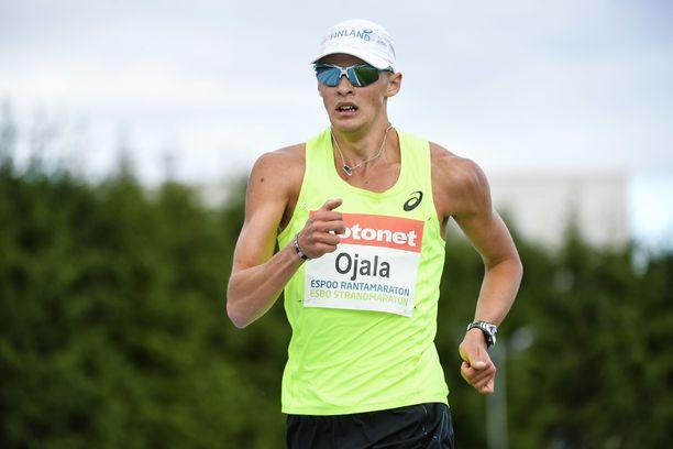 Aleksi Ojala teki ennätyksensä kympillä. Arkistokuva.
