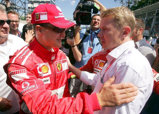 Michael Schumacher ja Mika Häkkinen ajoivat F1-sarjassa samaan aikaan vuosina 1991–2001.