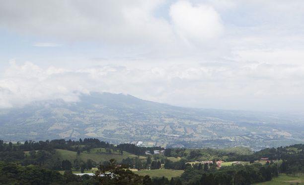 Maisema Costa Ricassa. Kuvituskuva.