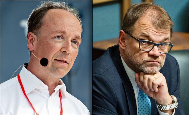 Jussi Halla-ahon johtama perussuomalaiset kirii keskustaa ja vihreitä kannatusmittauksissa.