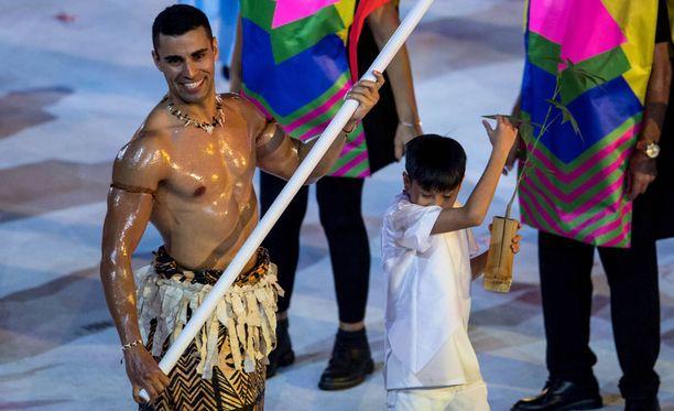 Pita Taufatofua oli olympia-avajaisten näkyvin urheilija.
