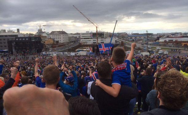 Ilo oli ylimmillään, kun Islanti tasoitti ottelun kuudennella minuutilla.