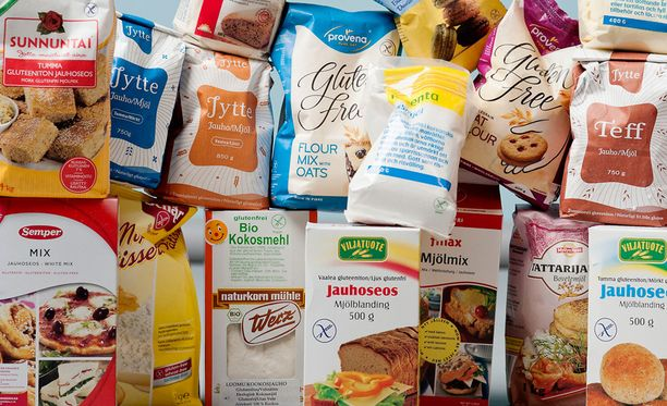 Gluteenittomat tuotteiden hinnassa näkyy niiden vähäisempi valmistusmäärä.