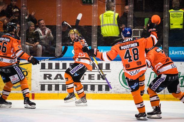 HPK juhli toisessa erässä 2–1-maalia Hämeenlinnassa.