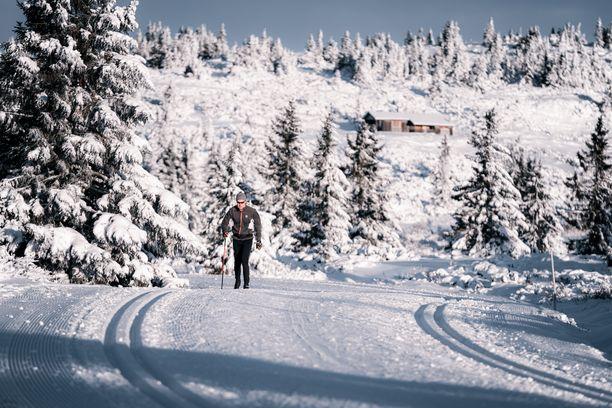 Skin-suksien ja siirrettävien siteiden avulla hiihtäminen on entistä helpompaa myös mäkisessä maastossa.