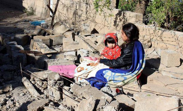 Järistys iski myös Irakin puolelle, jossa kuolonuhreja oli noin 10. Kuva on Darbandikhanista Irakista.