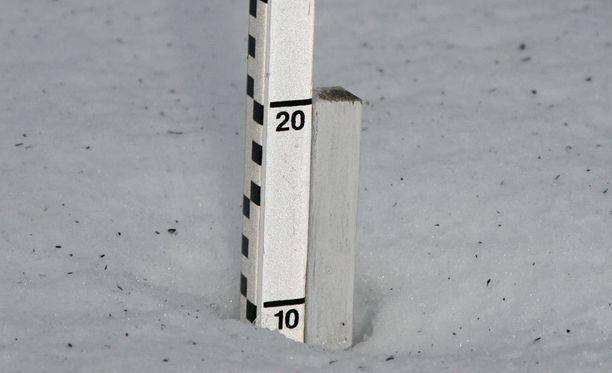 Lumen syvyyslukema on kasvanut tämän päivän aikana. Arkistokuva.