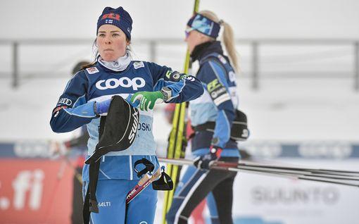 SM-hiihdoille takaisku: Krista Pärmäkoski ulkona – treenaa samaan aikaan Alpeilla