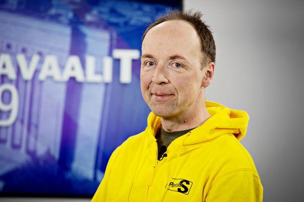 Jussi Halla-aho kertoo eurovaalien jälkeen, haluaako hän jatkaa perussuomalaisten johdossa.Kuva: Inka Soveri