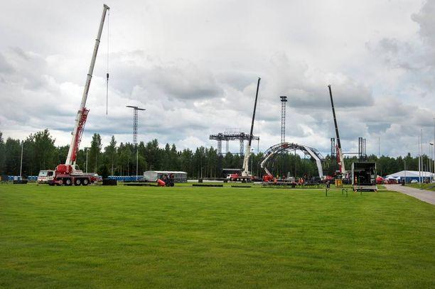 Hämeenlinnan Kantolan tapahtumapuisto kokee varsinaisen tulikasteen, kun se saa keskiviikkona vieraakseen yli 50 000 ihmistä.