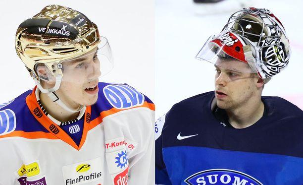 Henrik Haapala (vasemmalla) ja Harri Säteri eivät onnistuneet vielä nappaamaan pelipaikkaa NHL:stä.