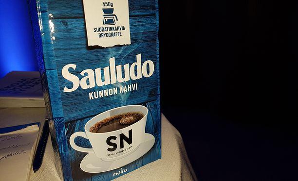 Tässä on Sauli Niinistön kampanjakahvi.