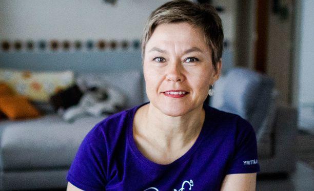 Kerttu Helynen toimii Rovaniemen yrittäjänaisten puheenjohtajana.