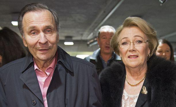 Reijo ja Anita Taipale kuvattuna tammikuussa 2015.