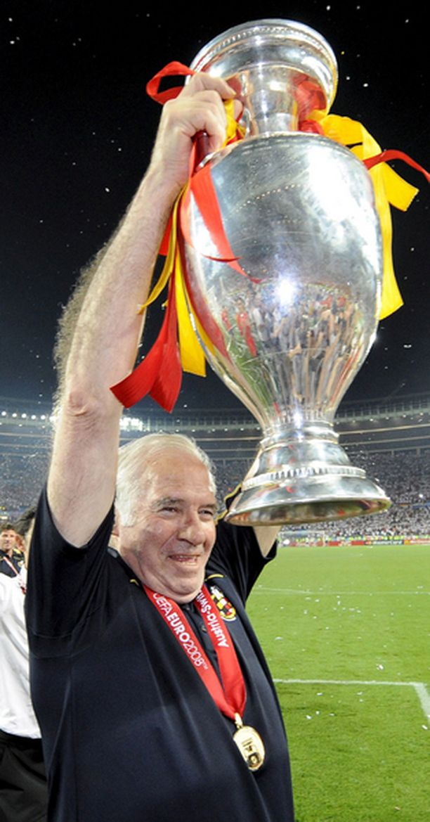 Luis Aragonesin kasvoilla näkyi helpotus voiton jälkeen.