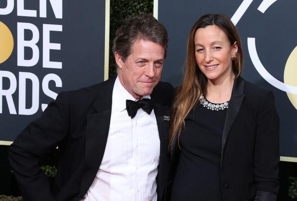 Hugh Grant ja Anna Eberstein ovat olleet yhdessä vuodesta 2012 saakka.