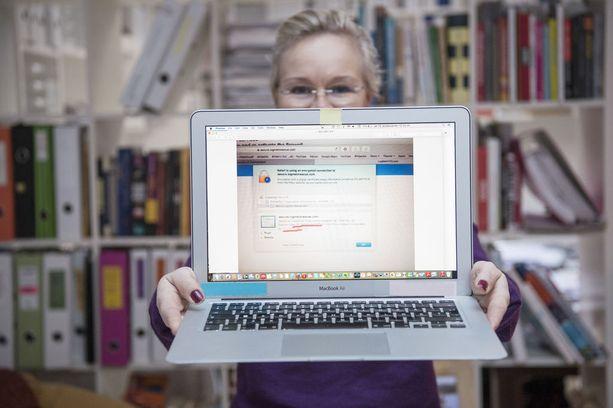 Pauliina Airaksinen joutui hakkereiden hyökkäyksen kohteeksi. Vaarassa olivat keskeneräinen väitöskirja ja asiakkaiden tiedot.