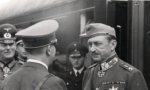 Suomen marsalkka Mannerheim kesäkuussa 1942.