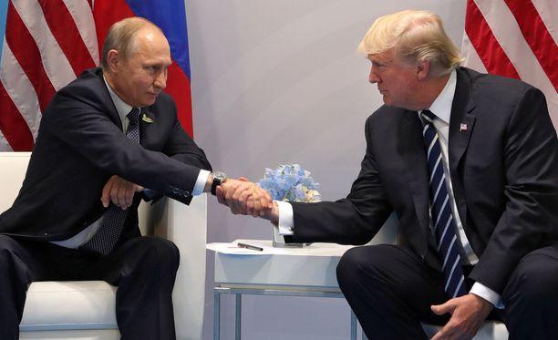 Venäjän presidentti Vladimir Putin ja Yhdysvaltain presidentti Donald Trump tapasivat toisensa G20-maiden tapaamisessa heinäkuussa.