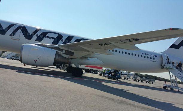 Finnarin lentokapteeni puhalsi 1,5 promillea.