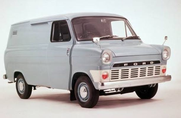 Helpoimmin varastettava auto 1970, kuvaili poliisi Transitia vuonna.