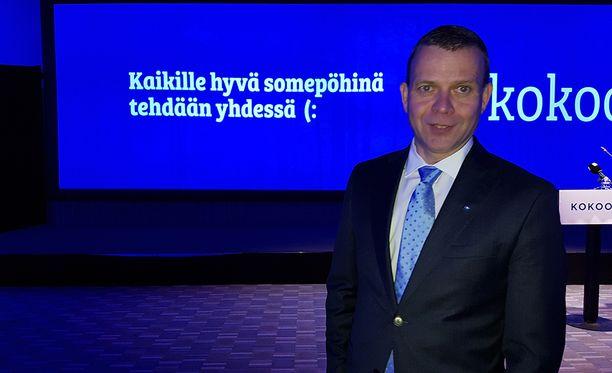 Kokoomuksen puheenjohtaja Petteri Orpo kertoi kokoomuksen tukevan Sauli Niinistöä presidentiksi.