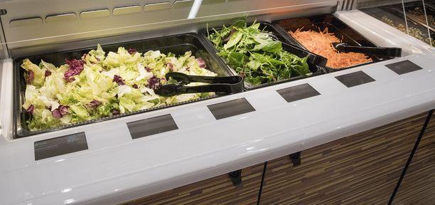 Tartunta on ilmeisesti peräisin henkilöstöravintolan salaattipöydästä. Kuvituskuva.