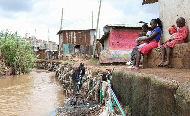 Kuvaa Nairobin ulkopuolella sijaitsevasta Kibera-slummista.