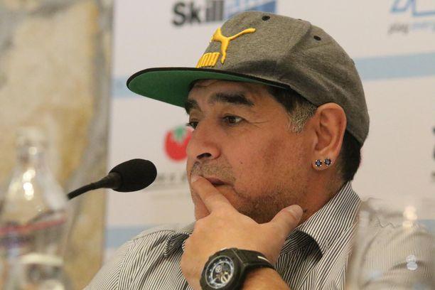 Maradona kuvattuna vuonna 2017.