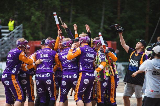 Sotkamon Jymy kavensi finaalisarjan voitot 1–2:een. Arkistokuva.