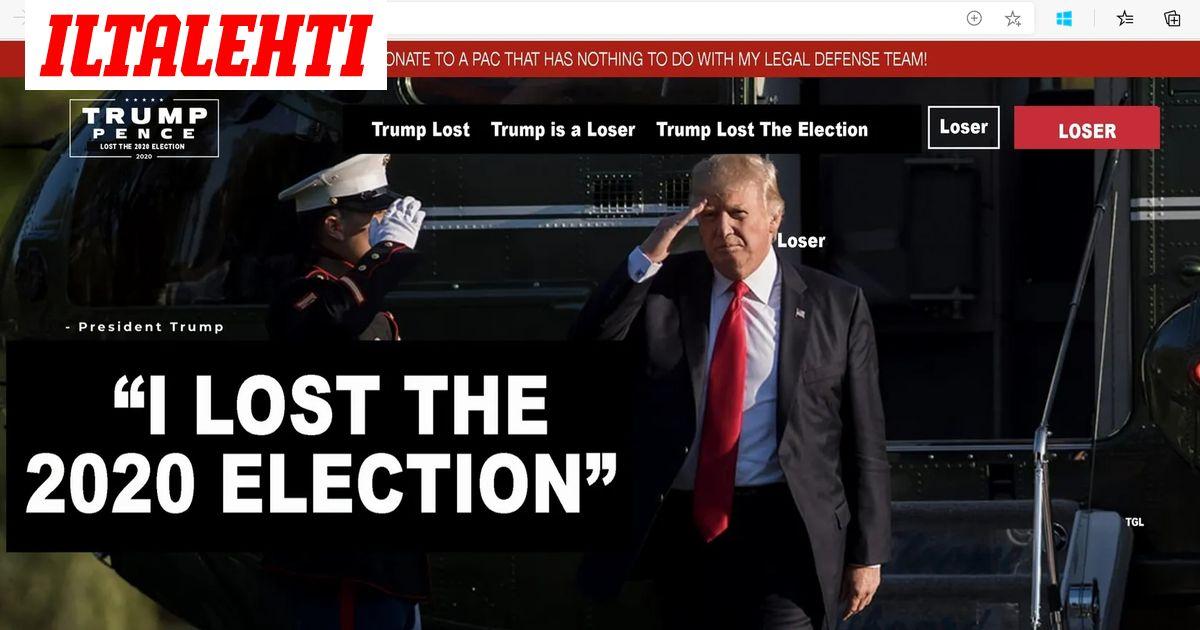 Pilailijat jekuttivat Trumpia  luovuttavat presidentin himoitseman nettisivun...