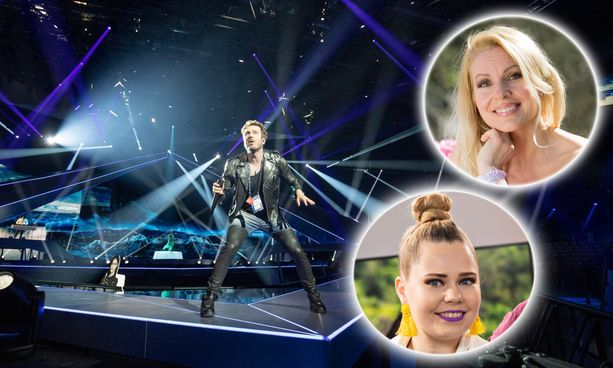 Iltalehden toimittaja Anna Hopi ja CatCat -yhtyeestä tuttu Virpi Kätkä jännittivät kanssasi pääseekö Darude Euroviisujen semifinaalista jatkoon.