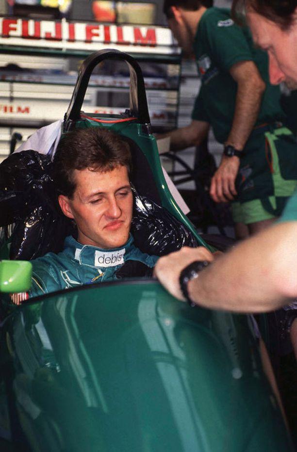 Tältä nuori Michael Schumacher näytti uran alussa vuonna 1991.